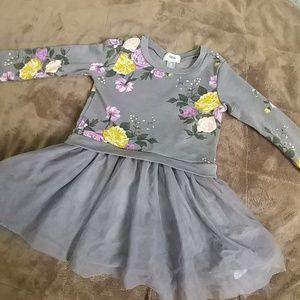 5T Floral Grey Dress